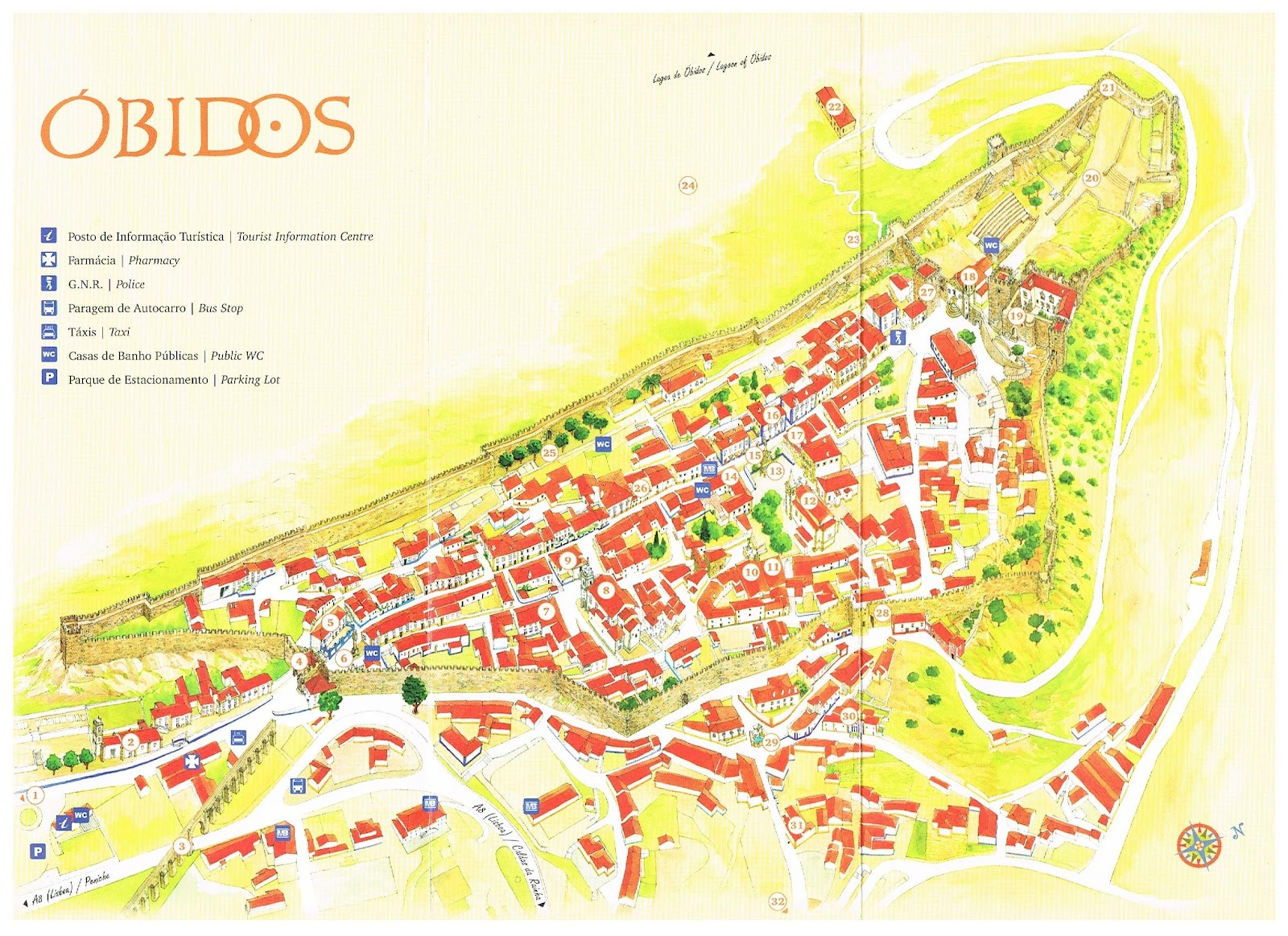 Óbidos map